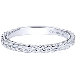 Gabriel & Co 14k White Gold Braided Stackable Ring