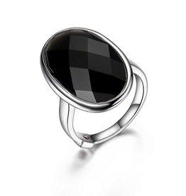 Elle Mystere Checkerboard Black Obsidian Ring