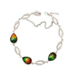 Nea Ammolite Streling Silver Bracelet
