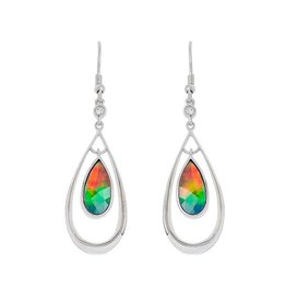 Elenor Ammolite Sterling SIlver Dangle Earrings