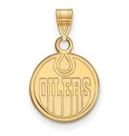 Edmonton Oilers Pendant (12mm) 14K Yellow Gold