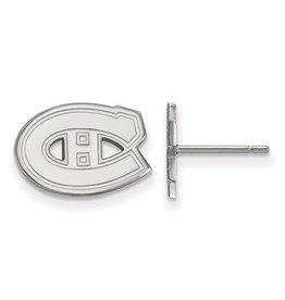 Montreal Canadiens Stud Earrings Sterling Silver