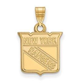 New York Rangers Pendant 10K Yellow Gold (13mm)