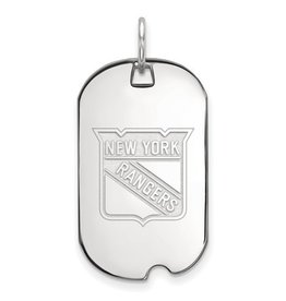New York Rangers Dog Tag Sterling Silver