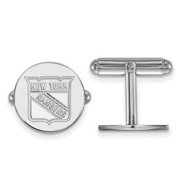 New York Rangers Cuff Links Sterling Silver