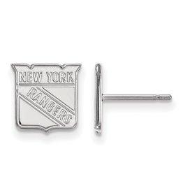 New York Rangers Stud Earrings Sterling Silver