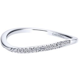 Gabriel & Co 14k White Gold Curved Wedding Band