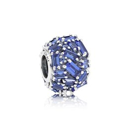 Pandora 797746NSBL - Chiselled Elegance Blue CZ Charm