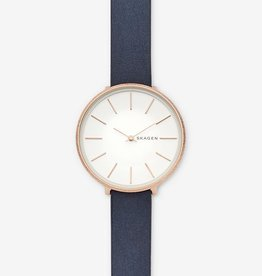 Skagen Karolina Blue Leather Watch