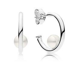 Pandora 297528P - Contemporary Pearls Hoop Earrings