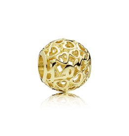 Pandora Glowing with Love Charm, 14K Gold