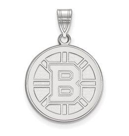 Boston Bruins Pendant (18mm)10K White Gold