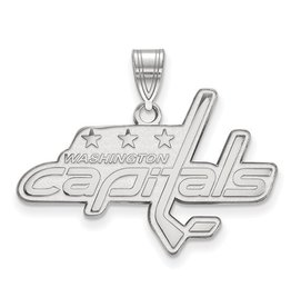 Washington Capitals Pendant (30mm)10K White Gold