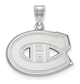 Montreal Canadiens Pendant (18mm) 10K White Gold