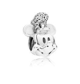 Pandora 797499CZ - Disney, Shimmering Steamboat Willie Portrait Charm