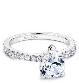 Noam Carver Bridal Diamond Pear Shaped Mount White Gold