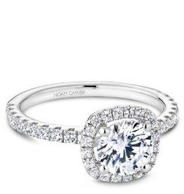 Noam Carver Bridal Halo Diamond Mount White Gold