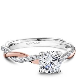 Noam Carver Bridal Diamond Mount Rose and White Gold