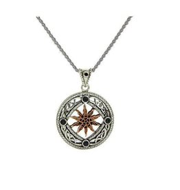 Keith Jack Freyr Sterling Silver, Rose Gold and CZ Pendant
