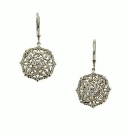 Keith Jack Night & Day (Reversible) Sterling Silver and CZ Earrings