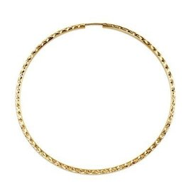 Diamonds Cut Hoops (55mm) Yellow Gold