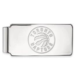 NBA Licensed Sterling Silver Toronto Raptors Licensed Money Clip