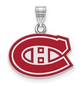 Montreal Canadiens Sterling Silver Enamel Pendant (16mm)