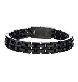 Inox Black Steel Link Bracelet