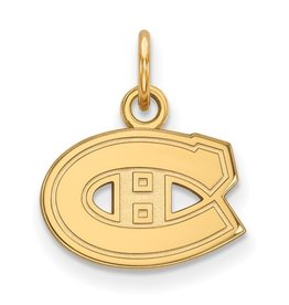 Montreal Canadiens (13mm) 10K Yellow Gold Pendant