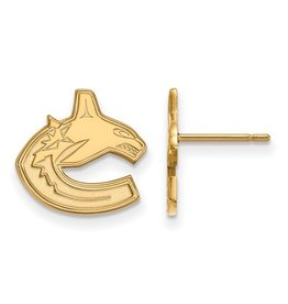 Vancouver Canucks Earrings (13mm) 10K Yellow Gold