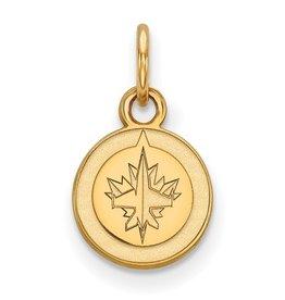 Winnipeg Jets (9mm) 10K Yellow Gold