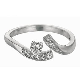 CZ Toe Ring Sterling Silver