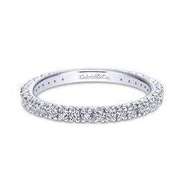Gabriel & Co 14k White Gold Round Straight