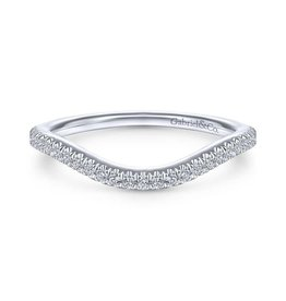 Gabriel & Co 14k White Gold Curved