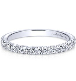 Gabriel & Co 14k White Gold Prong Set Band