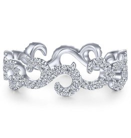 14k White Gold Eternity Diamond Stackable Ladies Ring