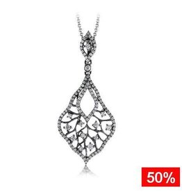 Ombre Diamond Pendant (0.63ct) 14K White Gold