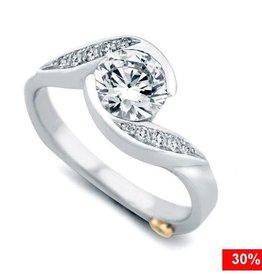 Mark Schneider Whirlwind 14K White Gold Diamond Mount