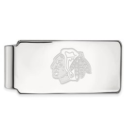 Chicago Blackhawks Sterling Silver Money Clip