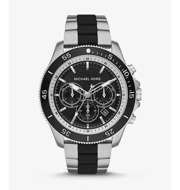 Michael Kors Theroux Silver-Tone and Silicone Watch