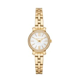 Michael Kors Petite Sofie Pavé Gold-Tone Watch