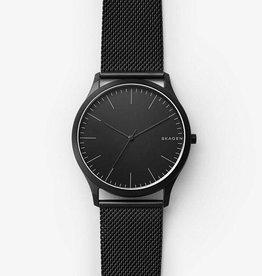 Skagen Jorn Black Steel-Mesh Watch