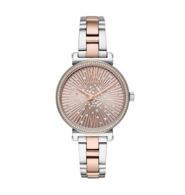 Michael Kors Sofie Pavé Rose Gold-Tone and Acetate Watch