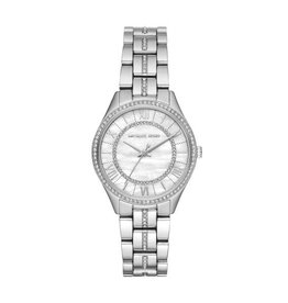 Michael Kors Mini Lauryn Pavé Silver-Tone Watch