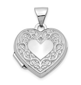Heart Locket 14K White Gold