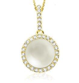 Pearl and Diamond 14K Yellow Gold Pendant
