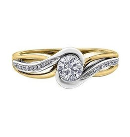 I am Canadian Canadian Diamond (0.50ct) 14K Yellow and White Gold Ring