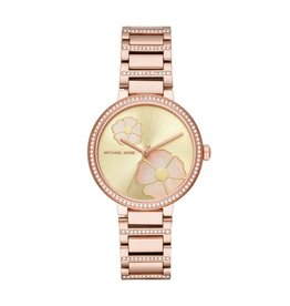 Michael Kors Courtney Analog Rose Gold Tone Watch