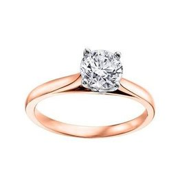 Solitare (0.20ct) Canadian Diamond Rose/White Gold Ring