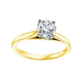 Solitare (0.70ct) Canadian Diamond Yellow/White Gold Ring